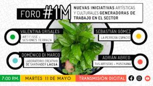 Nuevas iniciativas artísticas y culturales generadoras de trabajo en el sector – #1M